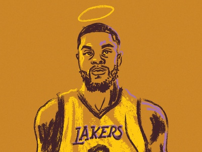 Lance Stephenson - Unlikely Guitar Hero hoodzpah sketch halo nba basketball portrait illustration sports lakers
