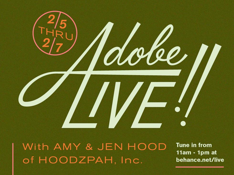 Adobe Live Promo Lettering lockup promo hoodzpah sans serif script lettering adobe