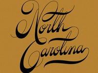 North Carolina Custom Lettering