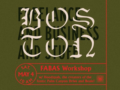 Boston FABAS Workshop and Talk! fabas freelance hoodzpah promo boston