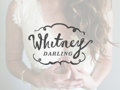 Whitney Darling logo mockup 1 hand drawn script girly delicate serif logo branding photography wedding bridal feminine