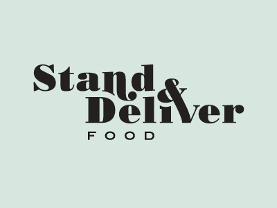 Stand And Deliver Logo mockup 1 logo branding food foodtruck food truck type font bodoni