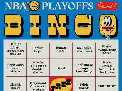 NBA Playoffs Bingo Card