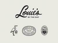 Louies By The Bay Restaurant Branding