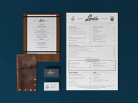 Louies Menus & Collateral