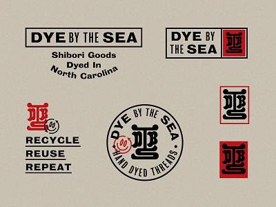 Dye by the Sea Unchosen logos recycle monogram seal japanese identity system branding logo