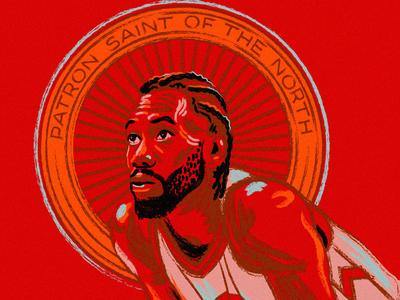 Kawhi Leonard Illustration illustration sketch halo saint kawhi basketball nba