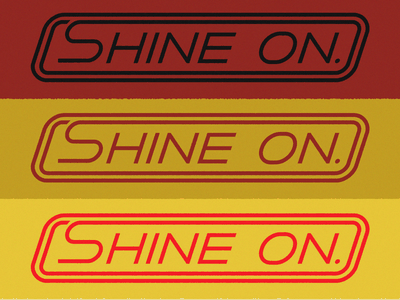 Shine On Seal retro shine lettering seal