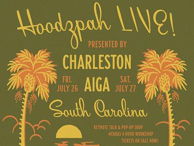 Charleston FABAS Event! charleston retro hoodzpah sunset sun palm tree