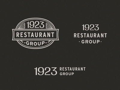 Unused 1923 Restaurant Group Logo System