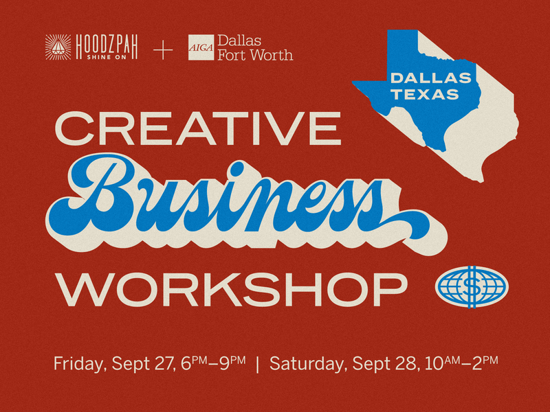 Hoodzpah x AIGA Dallas: Workshop & Keynote! dallas entrepreneur freelance business texas retro vintage script lettering