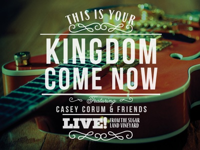 Kingdom Come Now CD Cover Art album art cover art cd typography type vintage southern country bluegrass folk letterpress