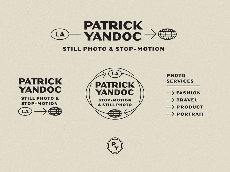 Patrick Yandoc Unchosen Logo System 2 hoodzpah globe travel arrows seal secondary marks visual identity identity system logo