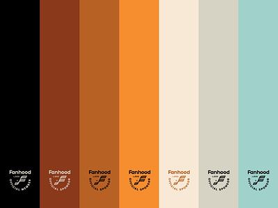 Fanhood color palette seal basketball hoodzpah vintage retro color sports sports design