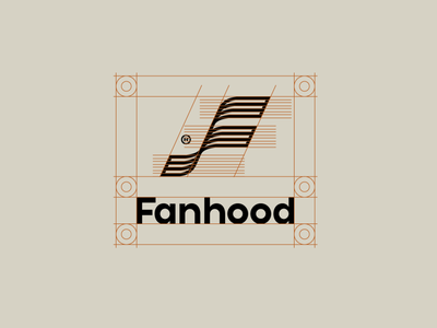 Fanhood Logo Spacing branding design hoodzpah visual identity clear space spacing guides logo