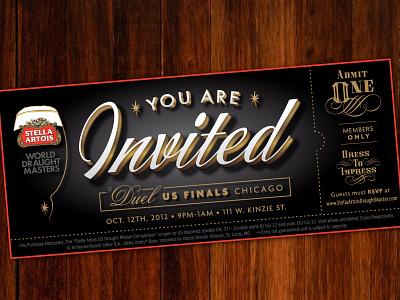 Special Event Ticket opulent retro 20s 1920s vintage ticket invite beer prohibition