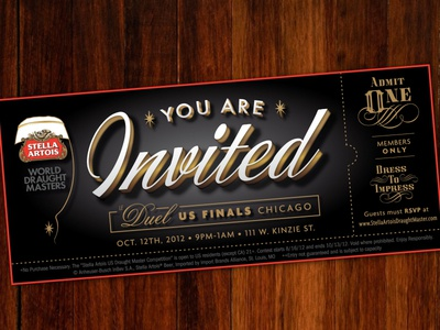 Special Event Ticket opulent retro 20s 1920s vintage ticket invite beer prohibition