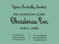 Nakatomi Christmas Invite featuring Beverly Drive