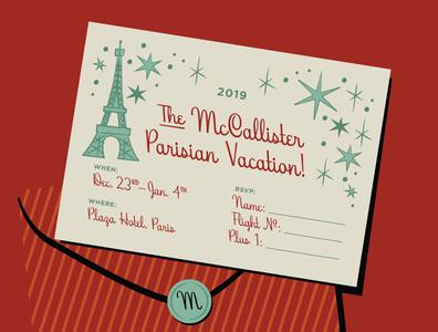 Home Alone Holiday Vacation Invite invite hoodzpah home alone winter font script paris card invitation christmas holiday