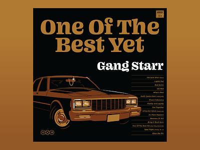 10x19 : #10 Gang Starr vector illustrations vector illustration hoodzpah shine chain chevy car rap gang starr album