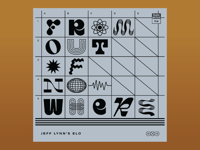 10x19: #8: Jeff Lynn's ELO - From Out of Nowhere lettering typography hoodzpah album cover