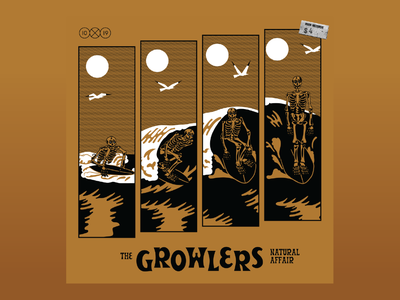 10x19 4. The Growlers - Natural Affair waves hoodzpah goth beach seagull frame timelapse comic surfing wave skeleton