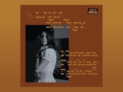 10x19 1. Lana Del Rey - Norman Fucking Rockwell logo lettering lana del rey hoodzpah 10x19