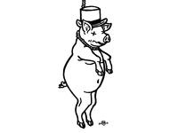 Pig Barber T Shirt Design
