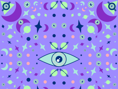 Kaleidoscopic design graphic desin print aidailychallenge