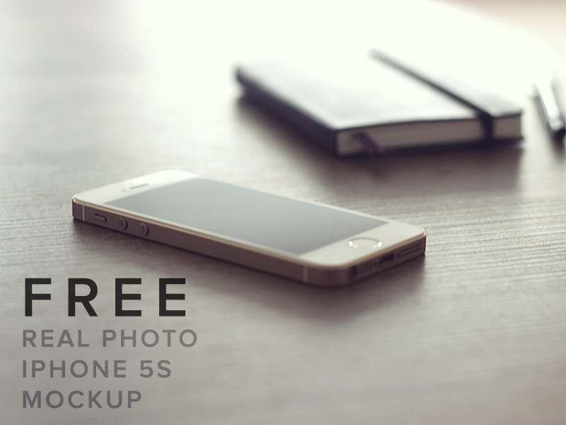 [FREE] iPhone Real Photo Mockup free iphone mockup photo psd mock-up ios 5s apple phone guy app