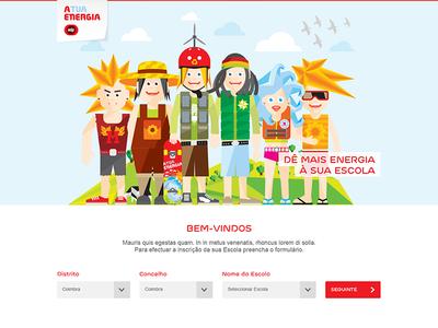 EDP mini website website a tua energia green red sustainability energy edp