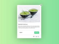 Pop-up for a restaurant website