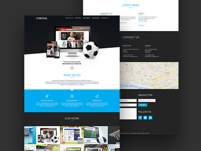 Chroma Website single page marketing visual website ux ui sports projects design concept chroma betting agency