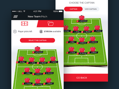 Fantasy Football pitch mobile game pitch football fantasy