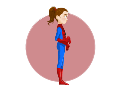 Spider-girl vector digitalpaint illustration affinity designer stanlee girl spider characterdesign character