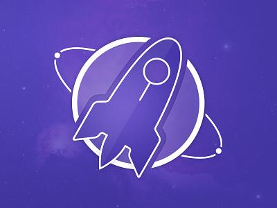 Kepler Widget Icon blue widget icon space cosmos nasa mission stars system indigo spacecraft round