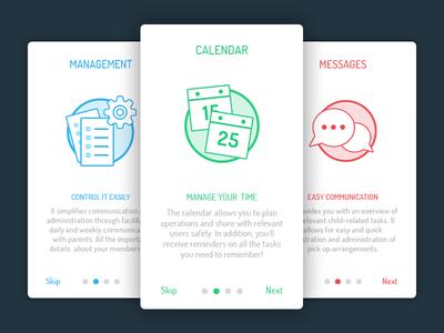 Intro for App illustration icon manage tutorial app help intro