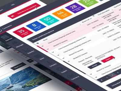 E Market Platform tool ux ui fleet management trade trading market ships marine dashboard ecommerce