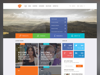 Pharmacy home page orange web ui design page home landing pharmacy