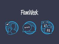 Famweek Icons