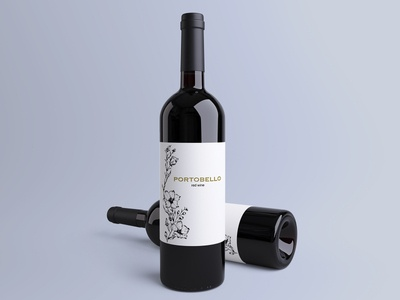 The floral illustration for the wine label vector design illustration