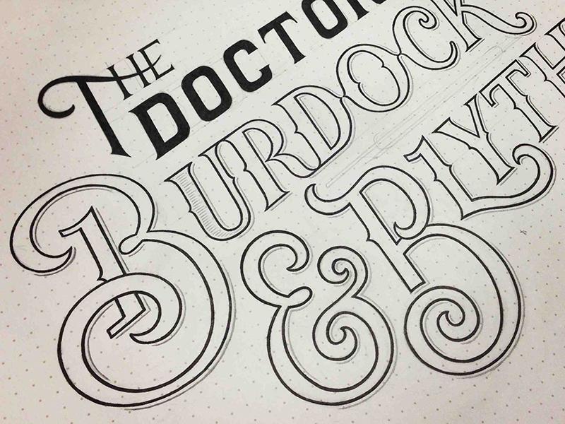 Burdock & Blythe Sketch sketch logo elixir