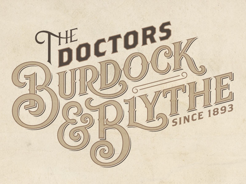Burdock & Blythe Final Logotype 826chi hand-lettering