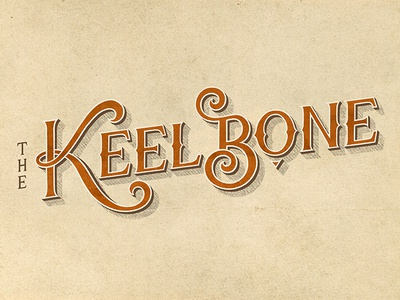 The Keelbone [1/2] logo hand-drawn vintage