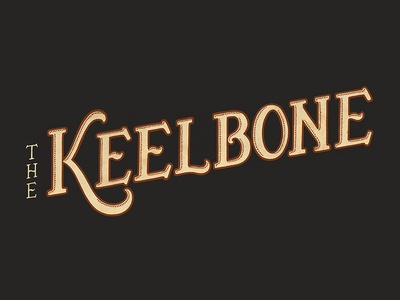 The Keelbone [2/2] logo hand-drawn vintage