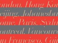 Volterra Italic — Cities