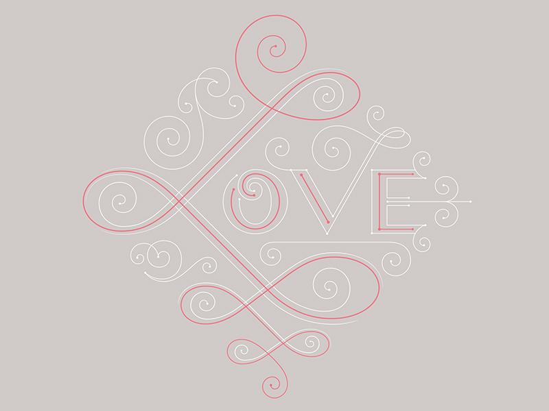 Love 826chi swirls love