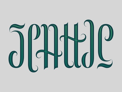 Seattle Ambigram ambigram seattle