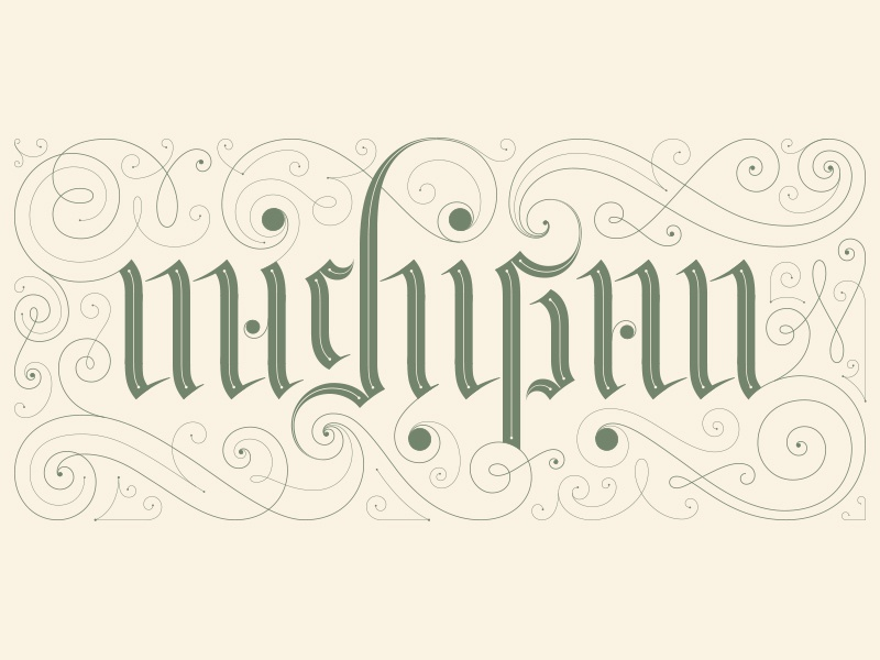 Michiganambigram dribbble
