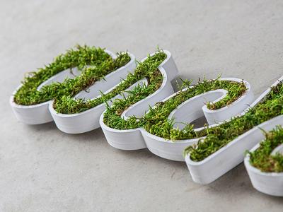 Logovegetal logo vegetal natural ecologic 3d vector green grass shop type font typeface